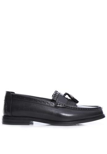 Zeve Shoes black Zeve Shoes Fringe Classic Loafer - Black Grey with Tassel (Hand Painted Patina) D47CASH3D891E7GS_1