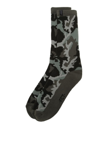 Factorie green Retro Ribbed Socks FA880AA0RY8RMY_1