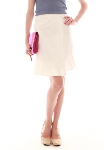 JOVET white Wrap Skirt 9CB56AAF284478GS_1