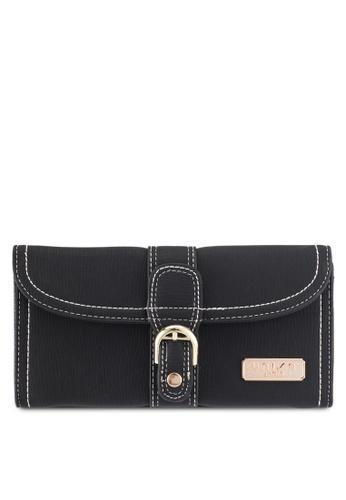 Unisa black Contrast Stitching Bi-Fold Ladies Wallet 6BF16ACC772AB2GS_1