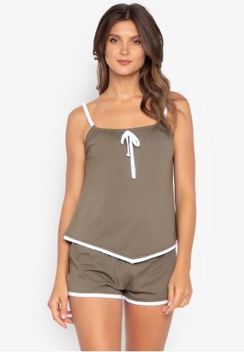 moondaze green Harper 100% Cotton Modal Sleepwear Set 5557FAAB346CD2GS_1
