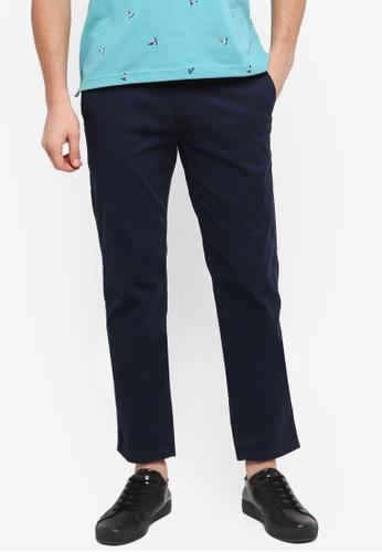 Fidelio 海軍藍色 修身直筒長褲 649B9AA36FA080GS_1