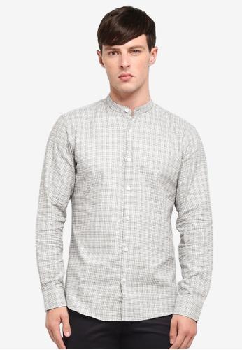 Selected Homme 白色 長袖格紋襯衫 C277EAA85A6EFFGS_1