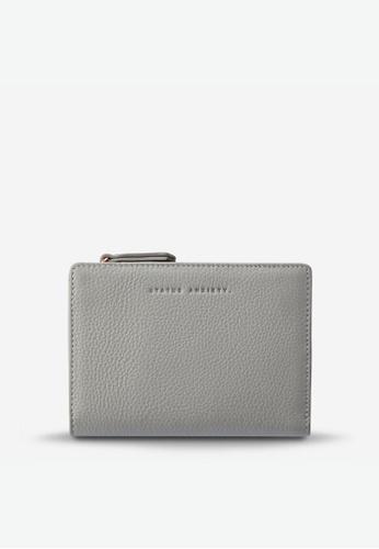 Status Anxiety grey Status Anxiety Insurgency Leather Wallet - Light Grey 09687ACBDF8760GS_1