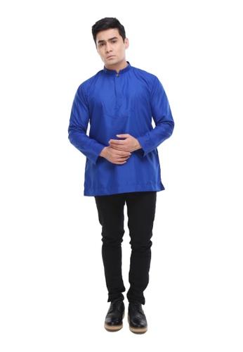 Amar Amran blue Kurta Al Idrus 2.0 D8DDBAAA9E0D09GS_1