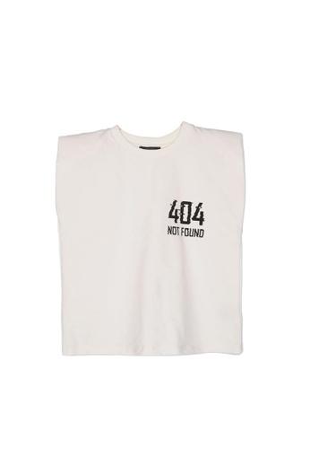 Trendyol white Printed Sleeveless T-Shirt 0268BAA42C5BB2GS_1