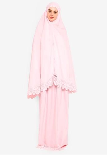 Najjah pink Colourcandy Pocket Telekung E594EAA7A880B4GS_1