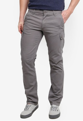 OVS grey Cargo Trousers With Cuff 00FB7AA65029D0GS_1