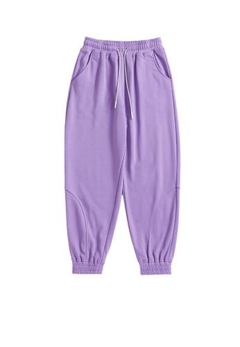 Twenty Eight Shoes purple Soft Knitted Sports Pants 6051GS21 F31E9AACAD01FAGS_1