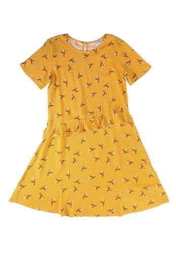 LC Waikiki yellow Girl's Ruffle Detailed Viscose Dress C8F57KA0DEE440GS_1