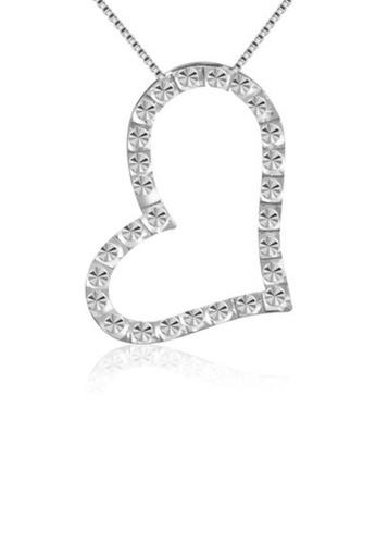 MaBelle silver 14K/585 White Color Gold Hearts Pendant Necklace 64441AC86B3960GS_1
