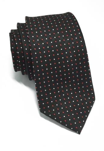 Splice Cufflinks Atom Series Black Polyester Tie SP744AC47LOASG_1