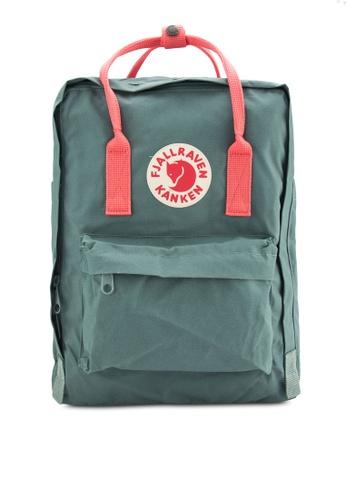 Fjallraven Kanken pink and green Frost Green-Peach Pink Kanken Classic Backpack FJ382AC82VUJMY_1