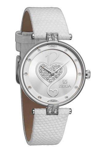 ZECA white and silver Zeca Watches Ladies Fashion Leather Analog - 148L White D1BADAC7DECCA1GS_1