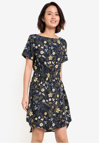 ZALORA navy Elasticated Waist Dress 27B5AZZ30FA717GS_1
