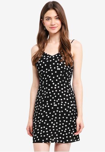 Something Borrowed black Printed Cami Dress 5DE0FAA2304804GS_1