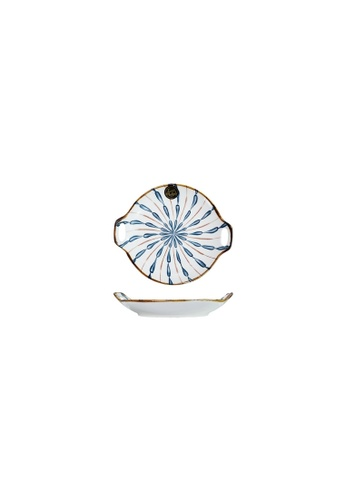 Table Matters multi Firework - 9.2 inch Round Plate with Handles B896AHL77CAF2CGS_1