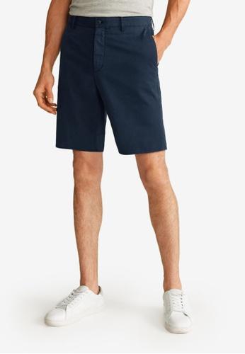 Mango Man blue Pockets Cotton Bermuda Shorts 8322BAA5C0DF7DGS_1
