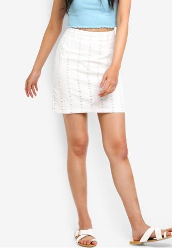 Something Borrowed white High Waist Mini Skirt BC999AA1090B38GS_1
