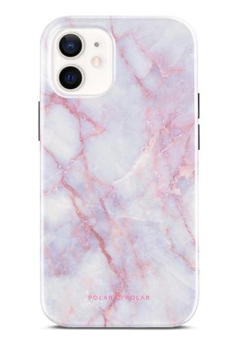 Polar Polar 粉紅色 粉紅石紋雙層光面手機殼 iPhone 12 mini F28B0AC1F1CFB3GS_1