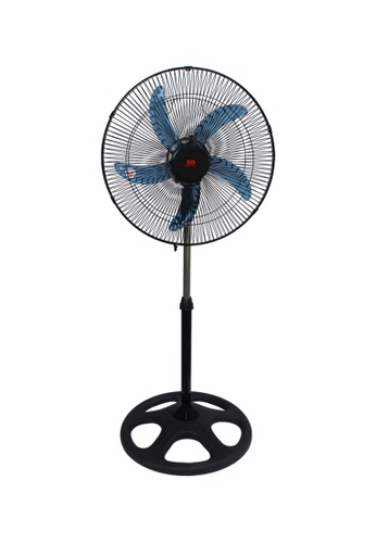 3D black Blue Stream Stand Fan A2BEDES5024BFDGS_1