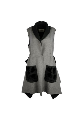 FENDI grey Fendi Knitted Sleeveless Dress in Grey 99BC9AAAB3ABCDGS_1