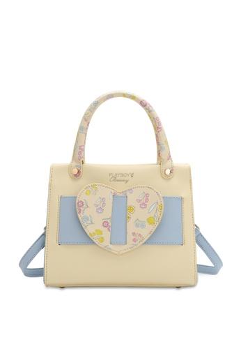 PLAYBOY BUNNY yellow Women's Hand Bag / Top Handle Bag / Shoulder Bag 51AD4AC10ACD2AGS_1