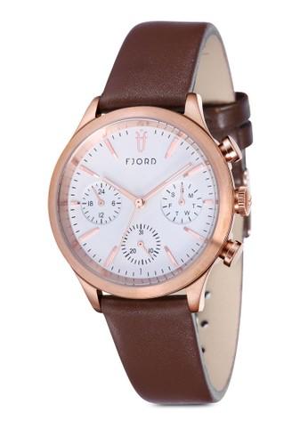 AGNA esprit台灣官網多功能皮革圓錶, 錶類, 皮革錶帶