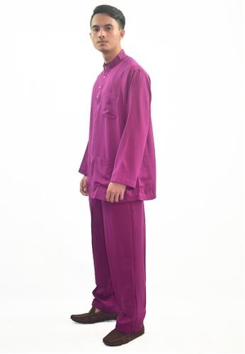 Denai Boutique purple Baju Melayu Atta D418AAAB18A432GS_1