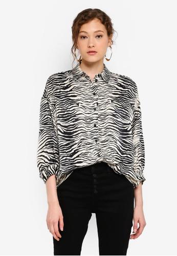 4123c6bc0f14 Buy TOPSHOP Zebra Print Shirt Online on ZALORA Singapore
