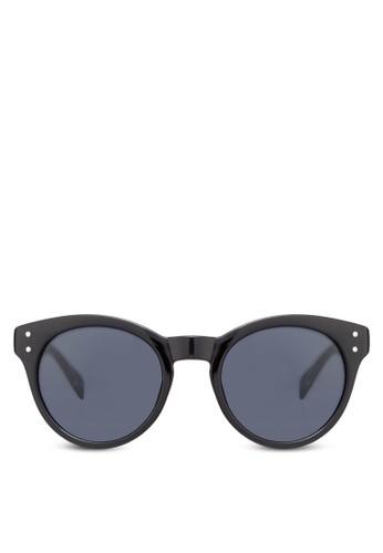 Preppy zalora 心得圓形太陽眼鏡, 飾品配件, 圓框
