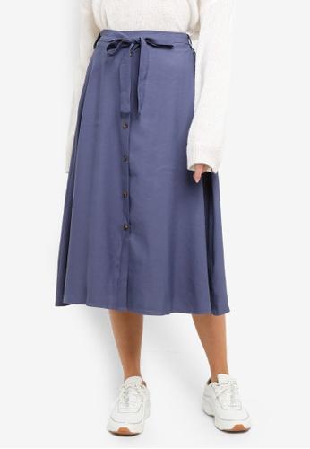 518de298881187 Buy NAIN Button Down Flare Midi Skirt Online on ZALORA Singapore