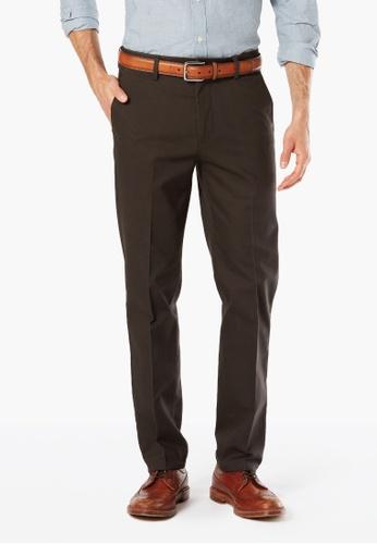 Dockers brown Dockers Signature Khaki Stretch Slim Pants Coffee Bean 28B7EAA1524A62GS_1