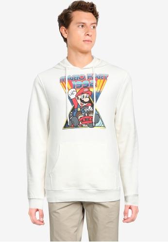 Old Navy white Mario Kart™ 1992 Gender-Neutral Graphic Hoodie 185FEAA88410B5GS_1
