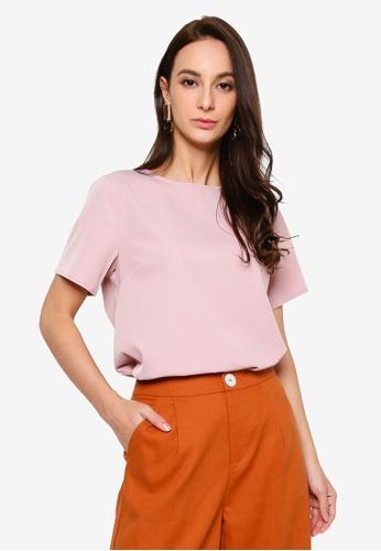 REUX pink Hannah Tee Top FC6CEAAB3569F2GS_1