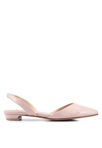 Carlton London pink Sling Back Flats FDE3BSHBEBA945GS_1