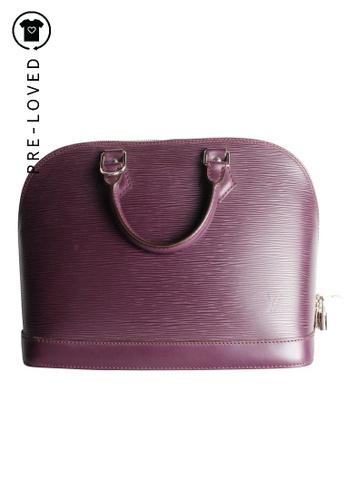 Louis Vuitton purple Pre-Loved louis vuitton Purple Epi Alma PM Bag 6A9C9AC6E00D87GS_1