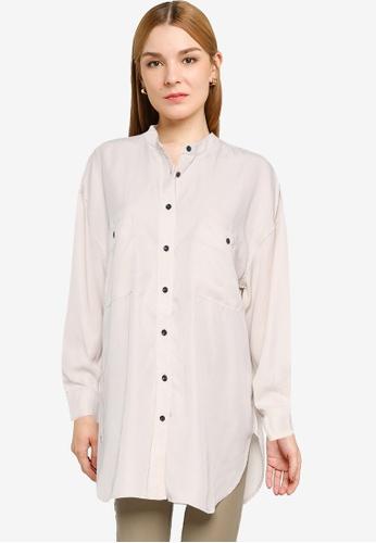 JEANASIS white Pocket Detail Shirt E4232AA51E9564GS_1