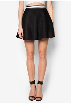 Love Structured Flare Skirt
