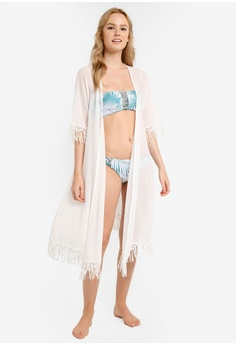 7093043be6 Malibu Beachwear white Mali Tassle Kaftan MA709US17JBAMY 1