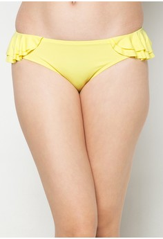 Pop Ruffled Hipster Bikini Bottom