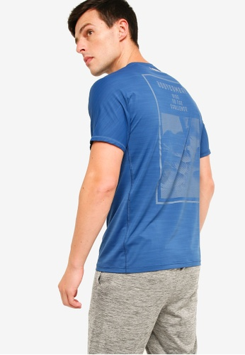 Reebok 藍色 LOGO印花訓練T恤 0BB52AAEF55452GS_1