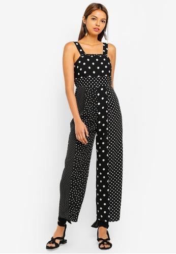 e2de6b878e8 Buy Miss Selfridge Petite Black Spot Pinny Jumpsuit Online on ZALORA ...
