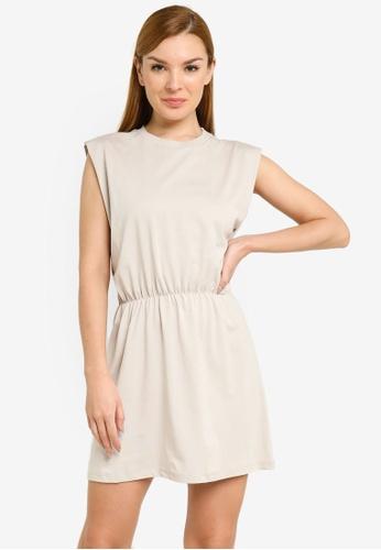 H&M beige Jersey Dress E27E1AAB21A0D5GS_1