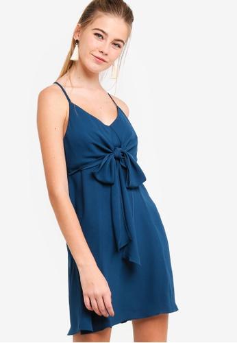 Something Borrowed green Front Tie Chiffon Swing Dress 0FD66AA1CECBDBGS_1