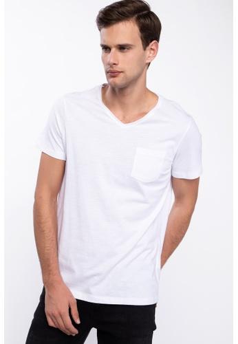 DeFacto white Man T-Shirt 1C5D9AA903D4F3GS_1