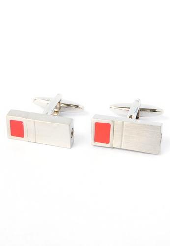 Splice Cufflinks red Rectangular Twist Cufflinks Red SP744AC89CPUSG_1