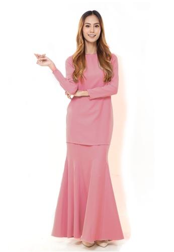 Rina Nichie Basic pink Rina Kurung in Coral Peach 1DF7CAAB69442EGS_1