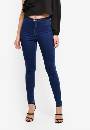 MISSGUIDED blue Vice Highwaisted Skinny Jeans B59E1AAB5420C3GS_1
