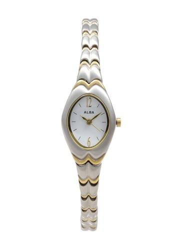 Alba silver ALBA Jam Tangan Wanita - Silver Gold White - Stainless Steel - AC3D48 75235AC35A0B85GS_1